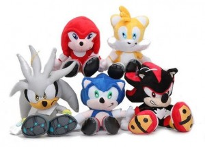 MASKOTKA MASKOTKI 20CM SONIC THE HEDGEHOG 5 SZT