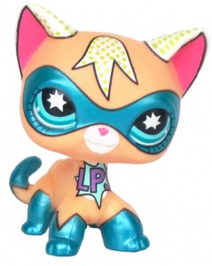 KOTEK SHORTHAIR LPS LITTLEST PET SHOP 3 SUPER HERO