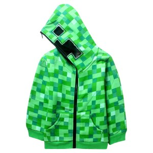BLUZA POLAR Z KAPTUREM MINECRAFT CREEPER
